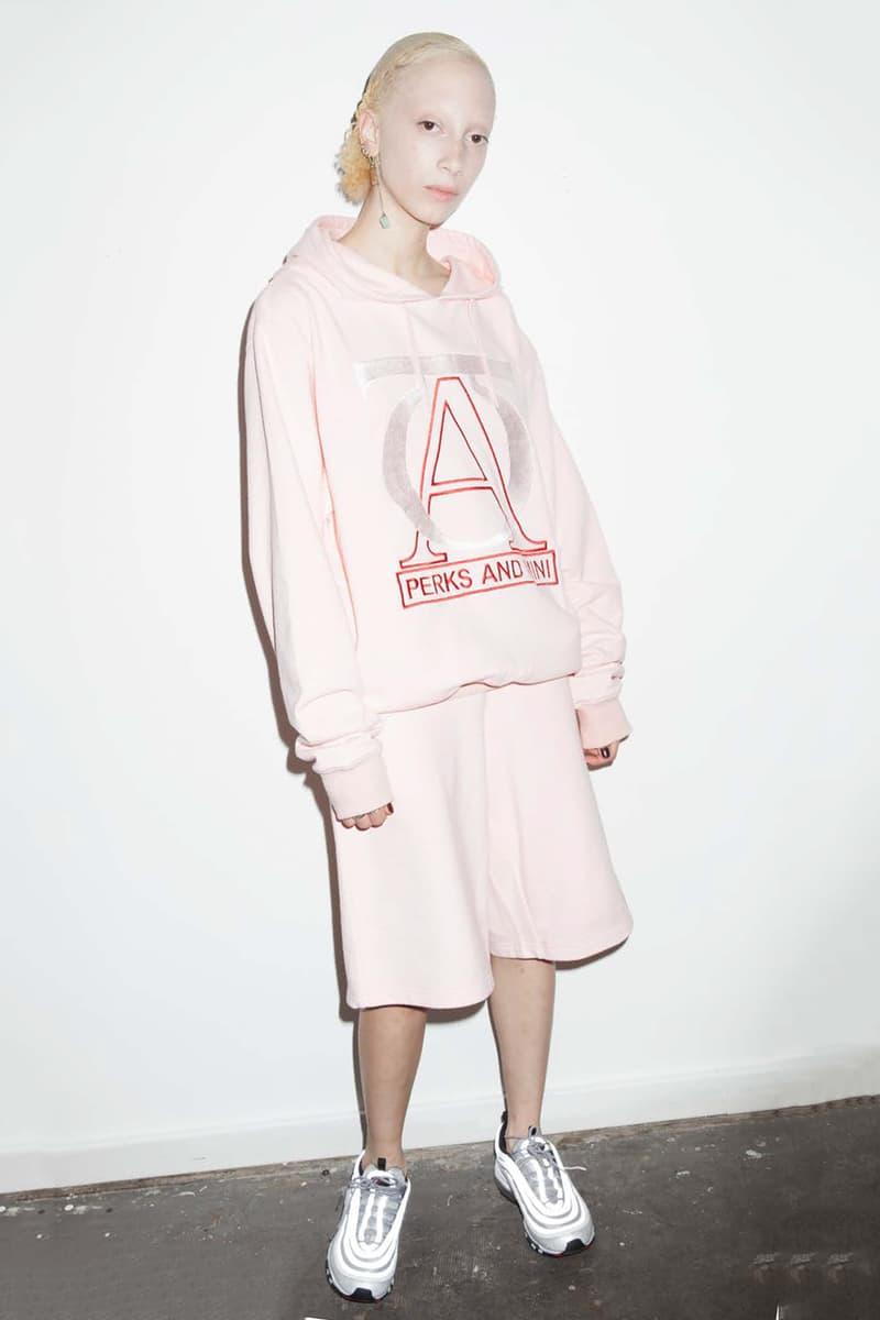P.A.M. Women's Spring/Summer 2018 Lookbook Millennial Pink Hoodie Shorts