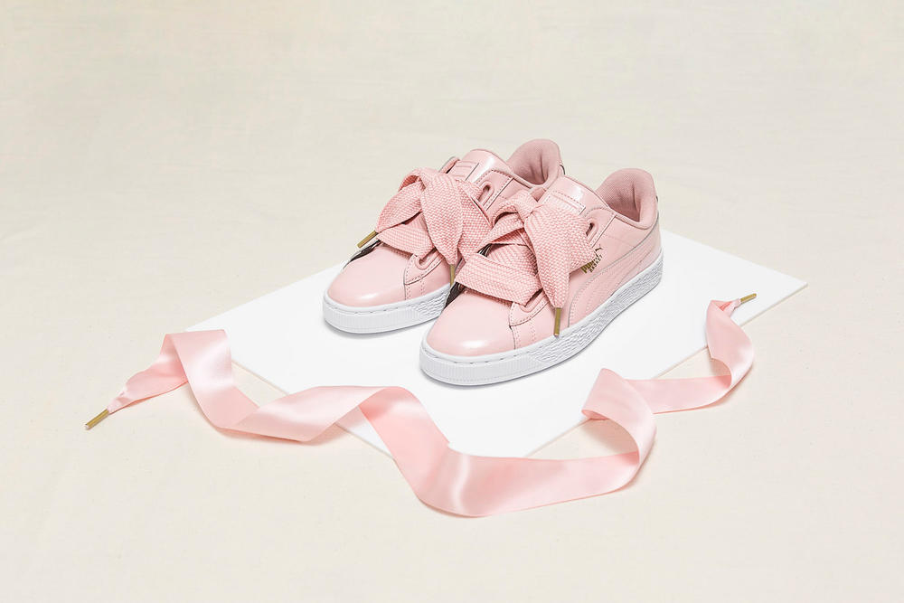 new concept 15012 01f0d PUMA's Basket Heart Patent Arrives in Pink/Grey | HYPEBAE