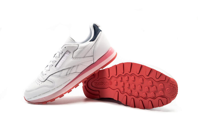 Publish Brand Reebok Classic Leather White Pink Red Dual Tone Sole Retro  Silhouette Sneaker Collaboration 5944f7912