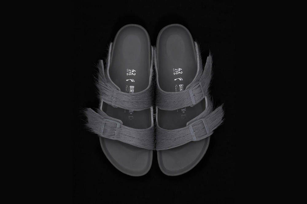 Rick Owens Birkenstock Sandal Pony Hair Collaboration