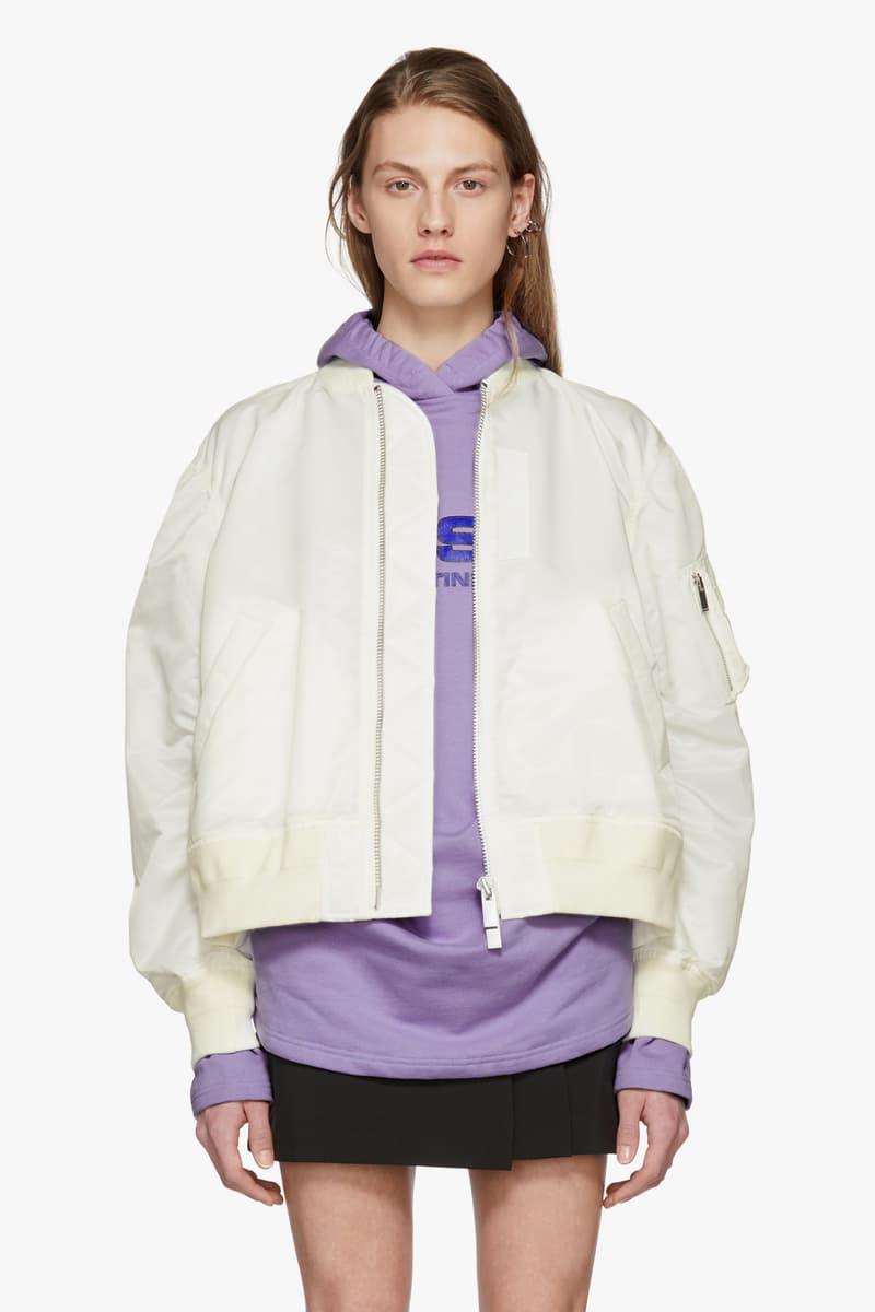 sacai all white ma 1 bomber jacket
