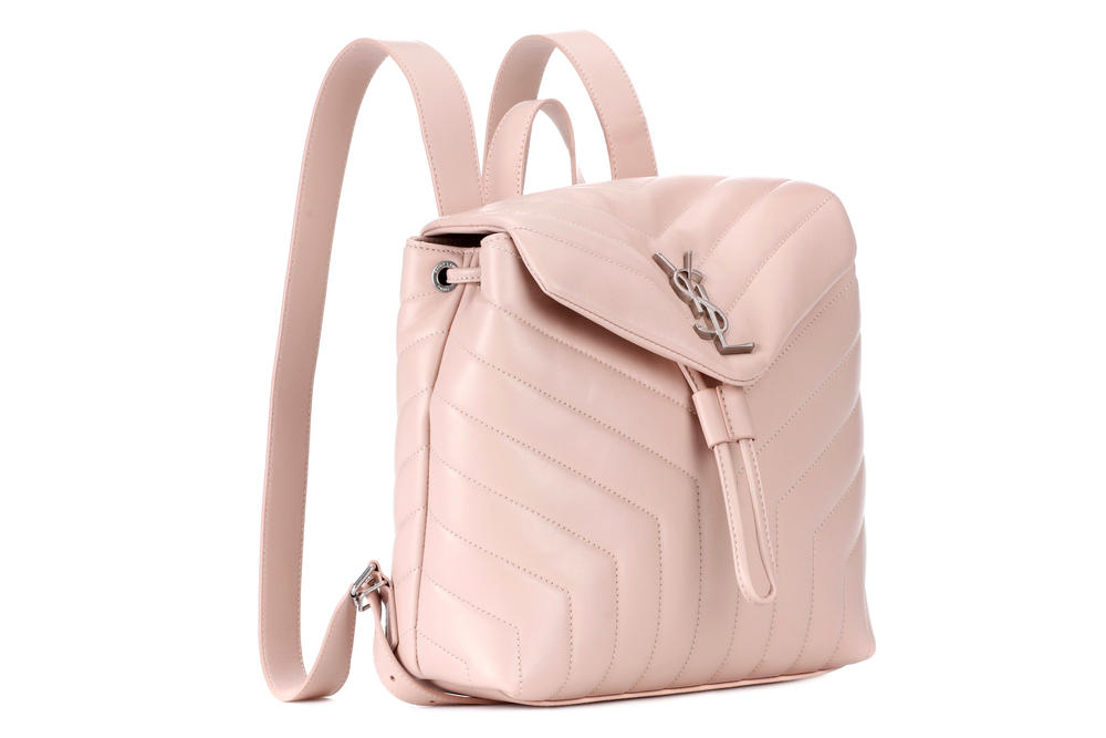 Saint Laurent Small Loulou Leather Backpack Millennial Pink mytheresa.com YSL Pastel