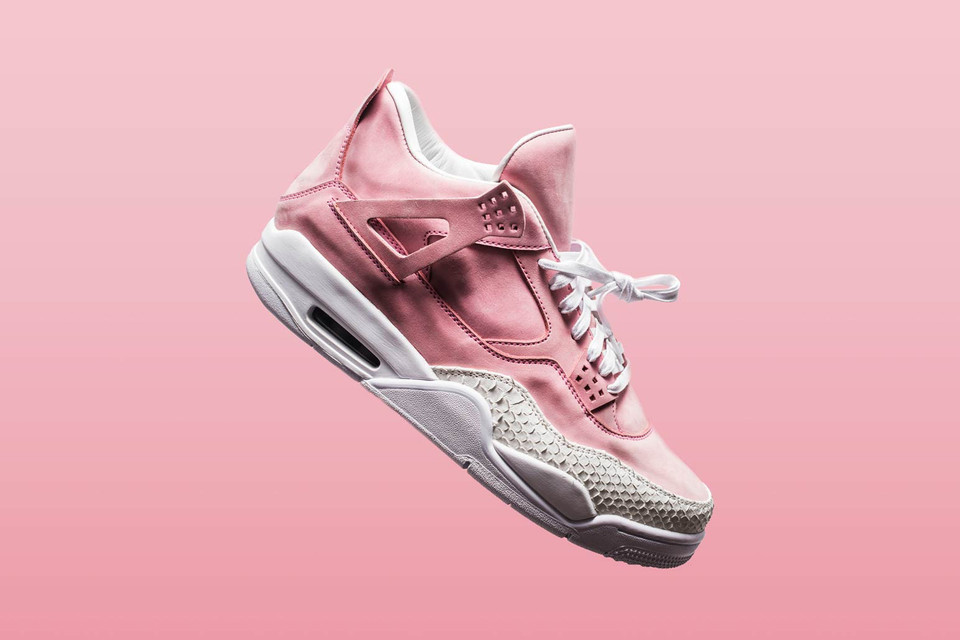 a5e26c22660c2 Shop The Shoe Surgeon s Pastel Pink Air Jordan 4