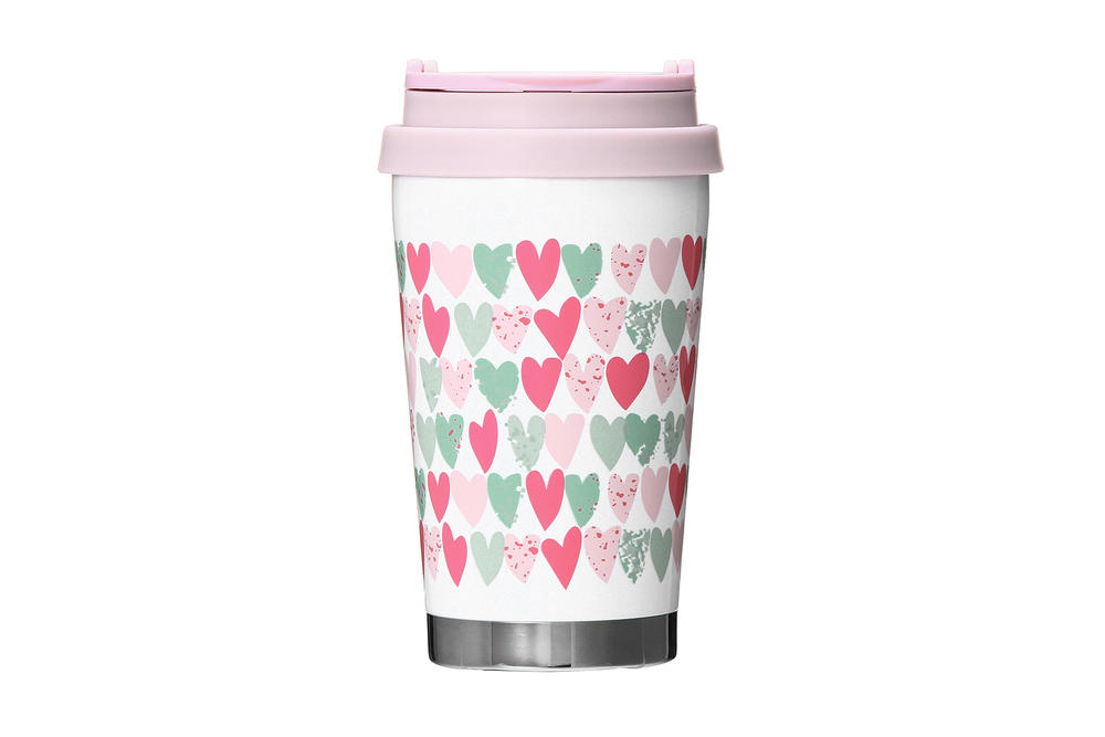 Starbucks Japan Valentine's Day 2018 Pink Tumbler Hearts