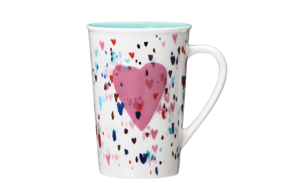 Starbucks Japan Valentine's Day 2018 Pink Hearts Mug Cup Coffee