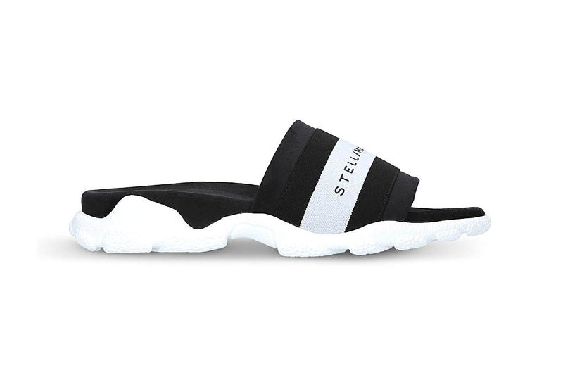 Stella McCartney Logo Detail Slide Black White