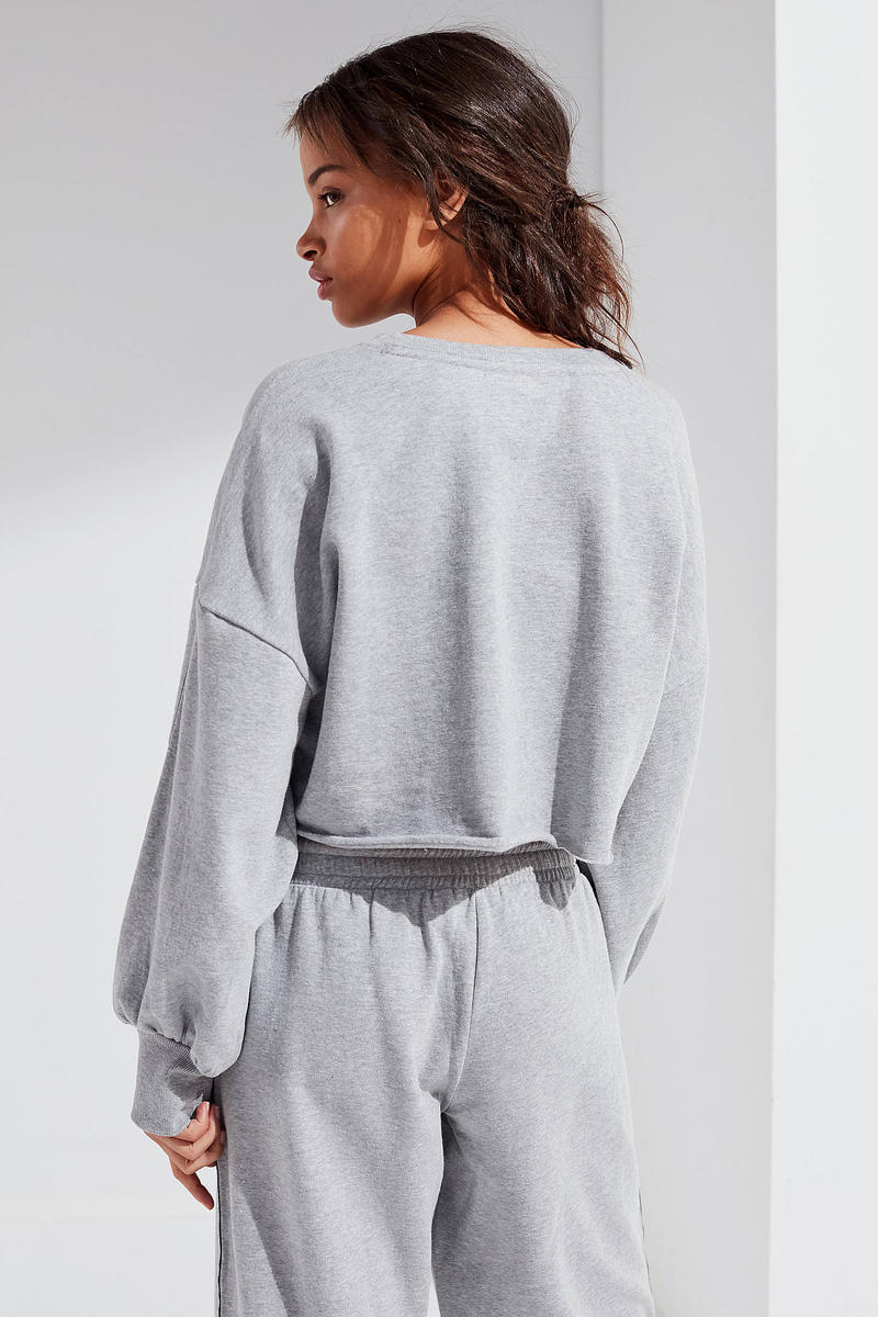 Tommy Hilfiger x Urban Outfitters Logo Set Grey Sweatpants Sweatshirt Cropped Cozy Loungewear Track Pants