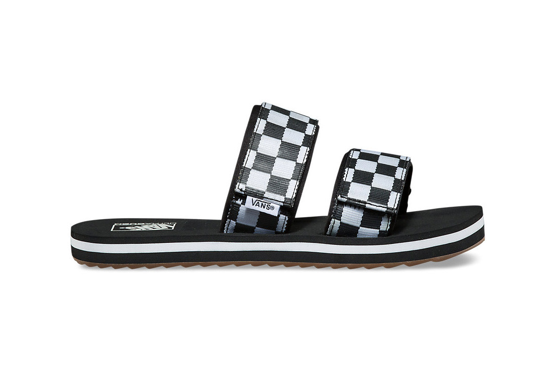 Vans' Cayucas Checkerboard Slides