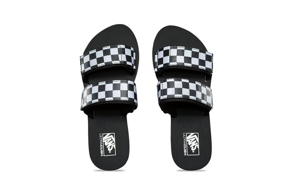Vans Cayucas Checkerboard Slide Black