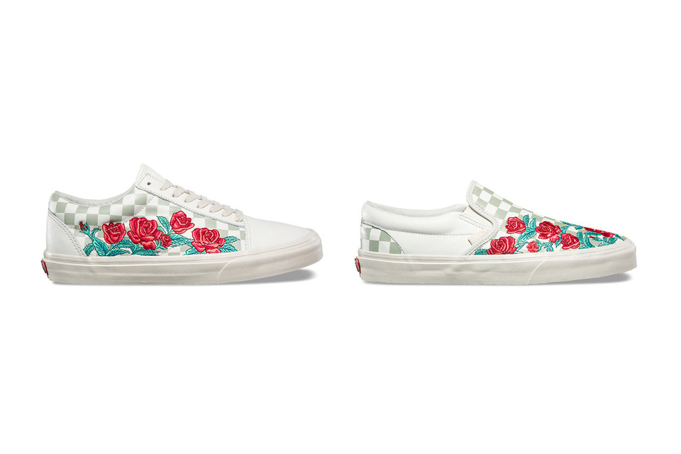 20d4a01d8015 Vans Embroiders Roses on Old Skool and Slip-On