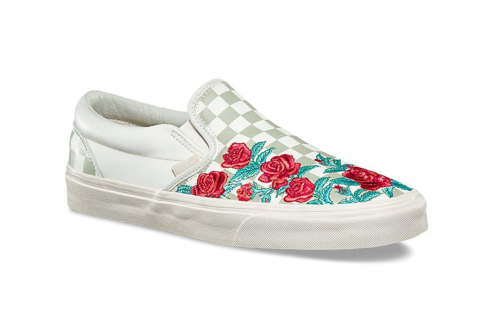 Vans Slip-On Rose Embroidery Marshmallow Turtledove