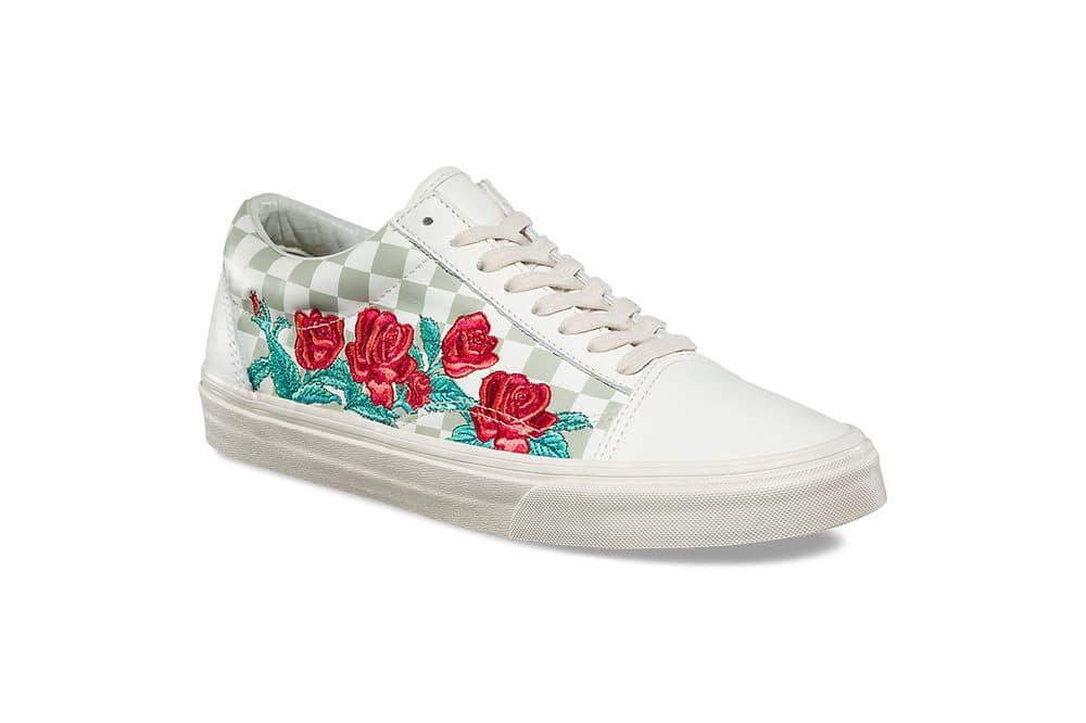Vans Old Skool Rose Embroidery Marshmallow Turtledove