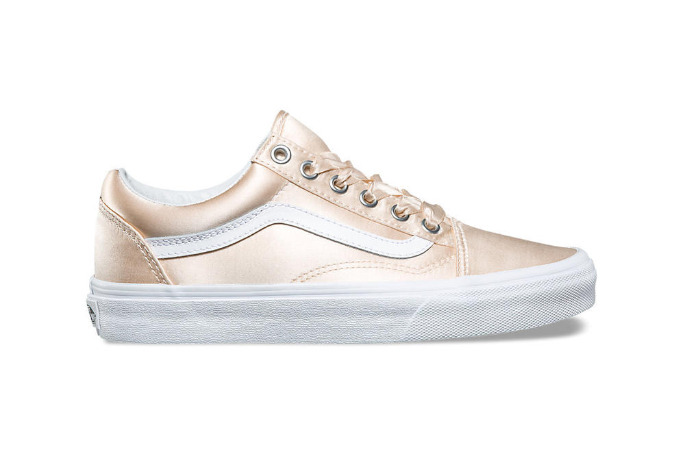 vans old skool authentic womens sneakers satin lux pack silk rose gold pink  silver blush ribbon dc76faaf3