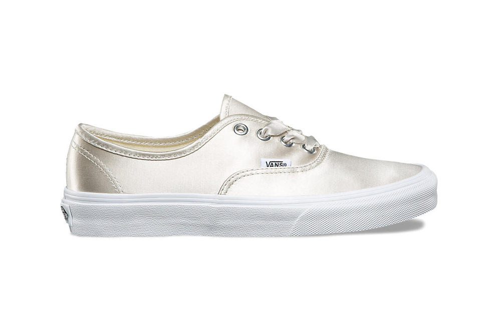 vans old skool authentic womens sneakers satin lux pack silk rose gold pink silver blush ribbon