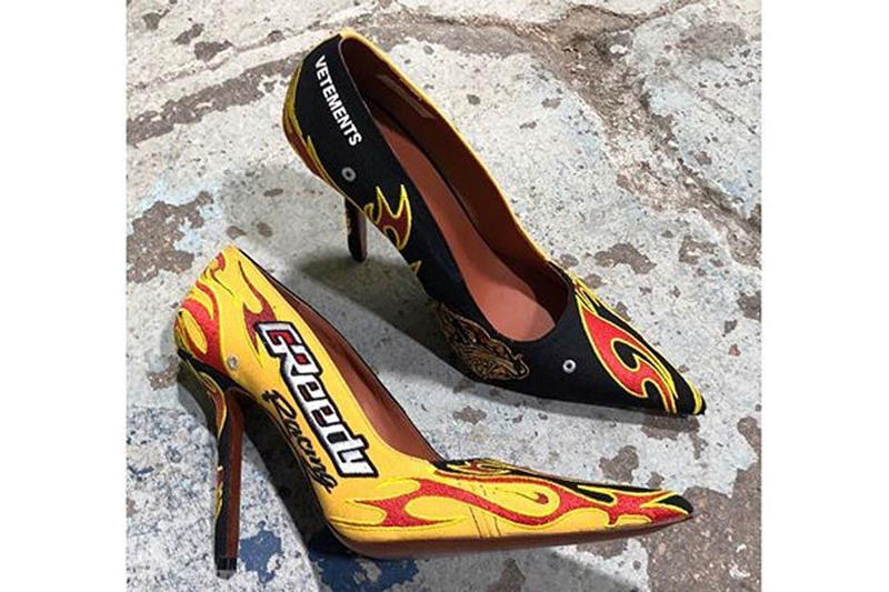 Vetements Fall Winter 2018 Racing Stiletto Heels