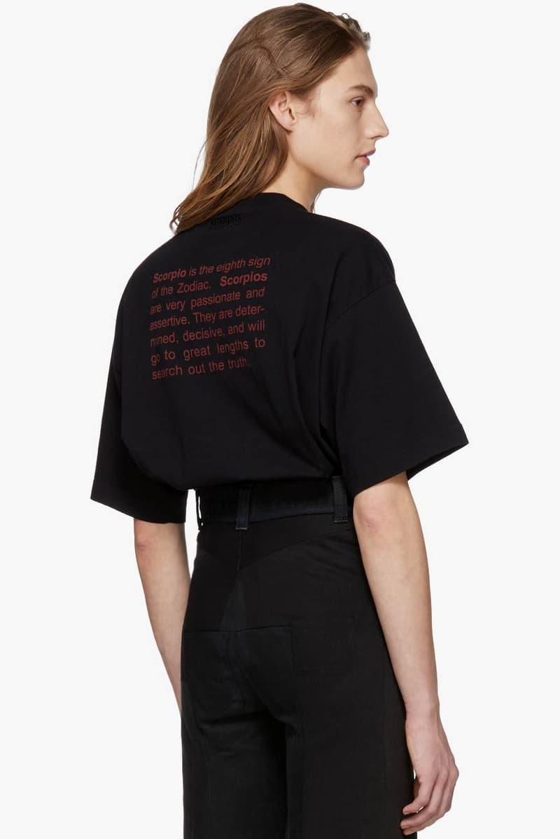 Vetements Horoscope T-Shirt Capricorn