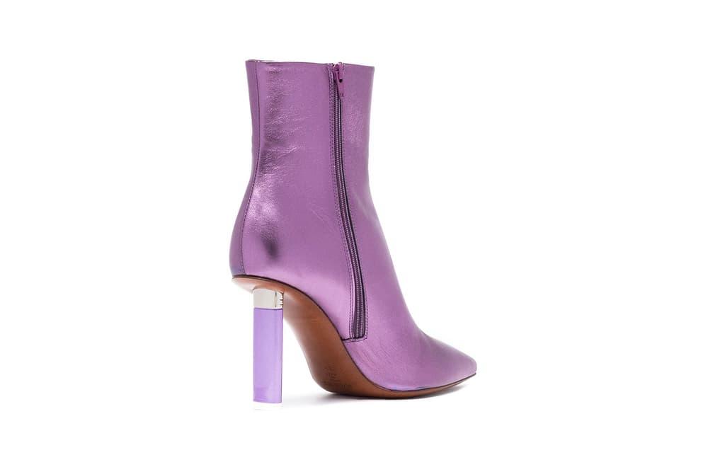 Vetements Lighter Heel Ankle Boots Metallic Purple