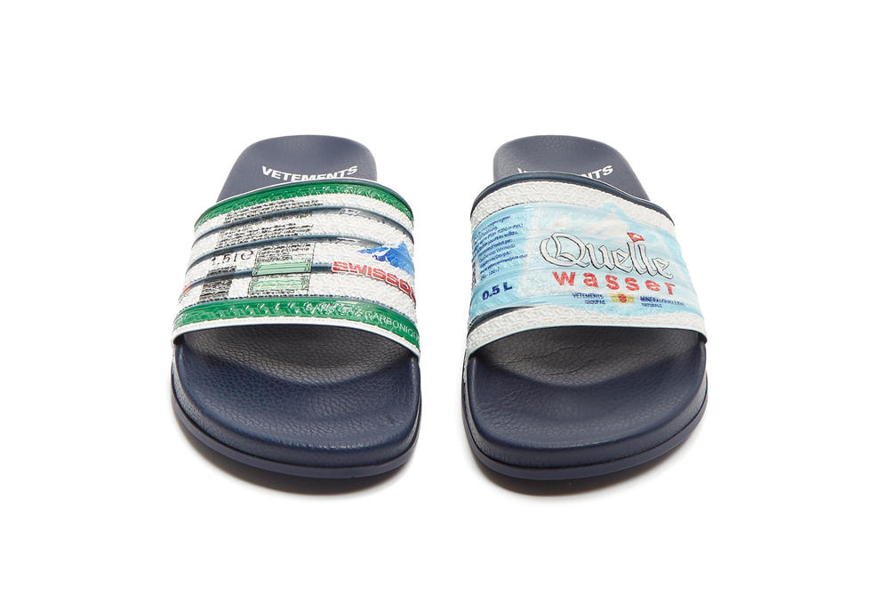 Vetements Demna Gvasalia Multi Print Slides Red Navy Slippers Shoes Luxury Expensive Ridiculous