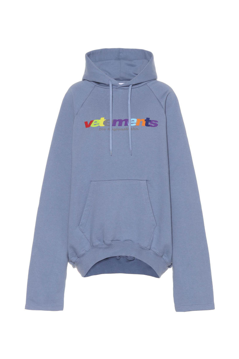 Vetements Rainbow Logo Oversized Hoodie T-Shirt