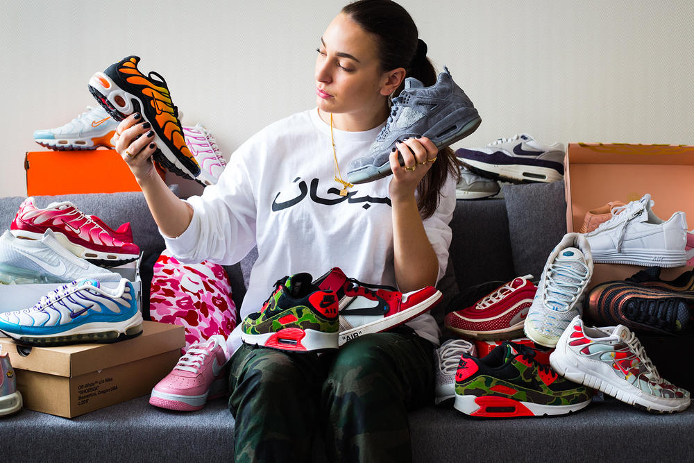 cbd19aedb Be warned — her Nike sneaker collection will give you major envy.