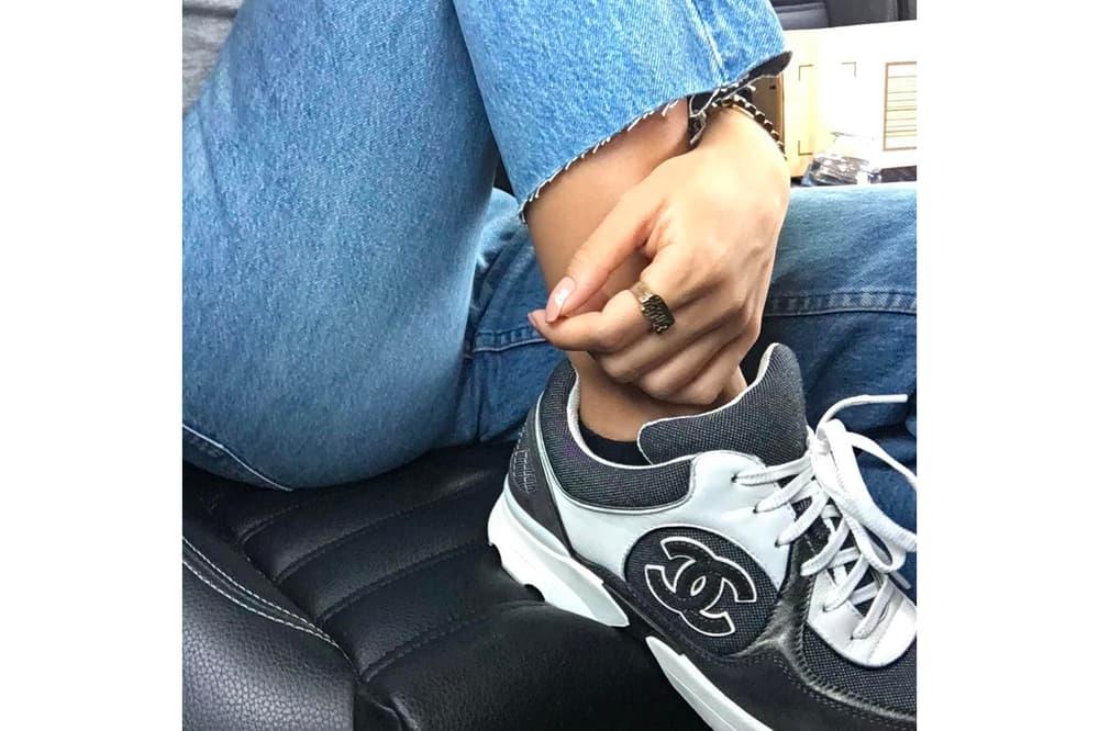80ebcdb3c Please keep us CC d. Vintage Chanel Sneaker Grey White Black ...