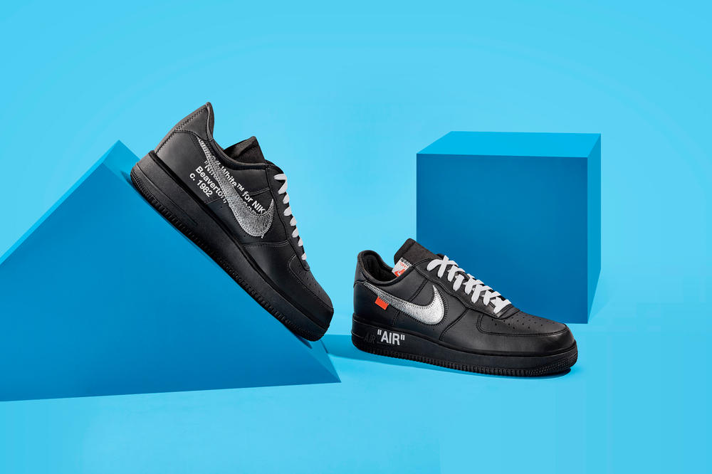 Off-White™ by Virgil Abloh for MoMa x Nike Air Force 1 Black Pair