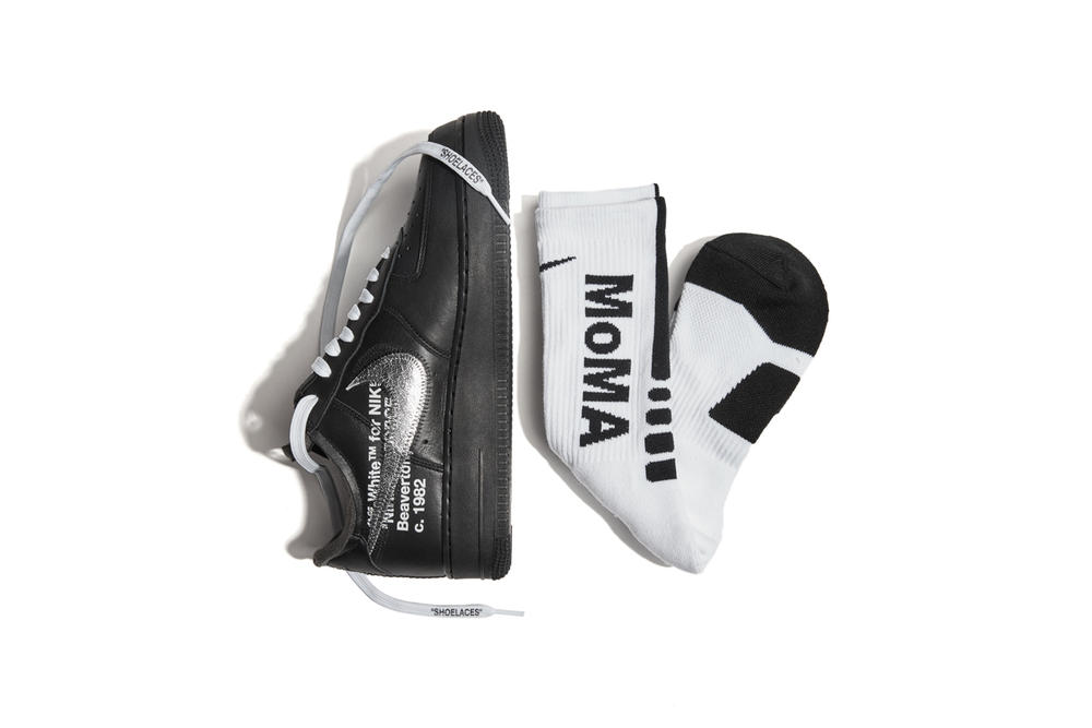 Off-White™ by Virgil Abloh for MoMa x Nike Air Force 1 in Black Elite Sock