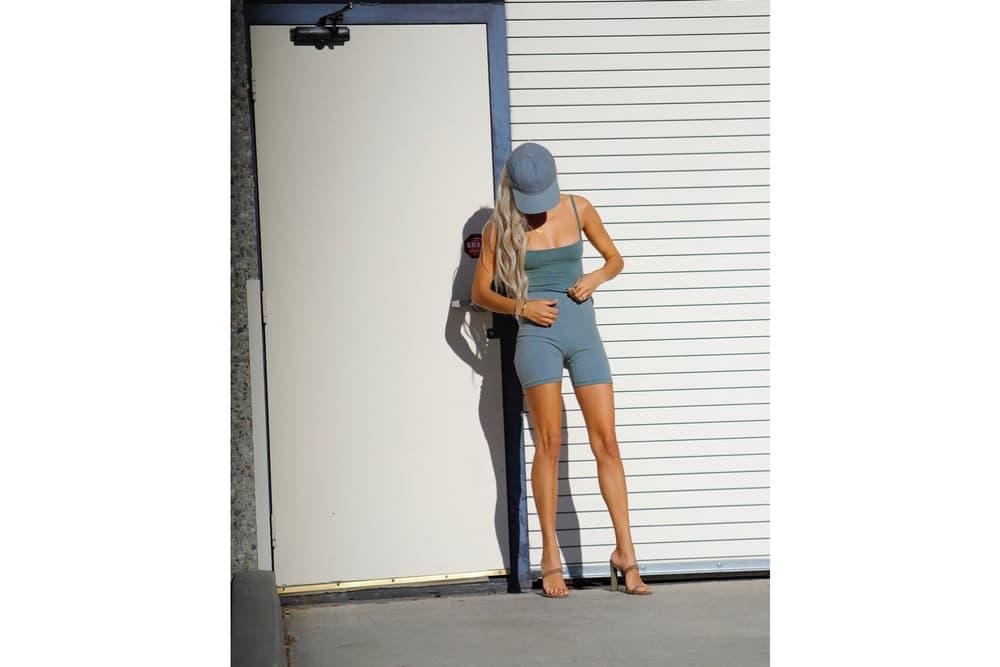 Yeezy Season 6 Instagram Campaign Kristen Noel Crawley Bra Shorts Heels
