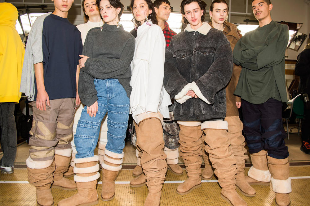 Y/Project Crotch-High Thigh UGG Boots Paris Fashion Week Men's 2018 Ugly Shoes Trend Runway Show
