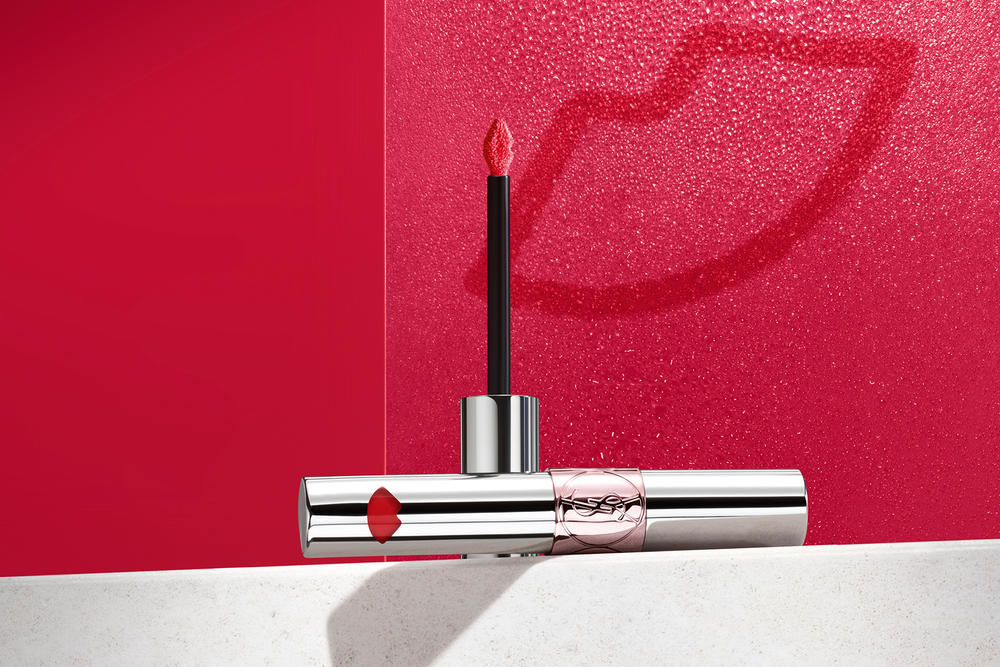 YSL Beauty Volupté Liquid Color Balm Lipstick Saint Laurent Makeup Red Pink Orange Swatches