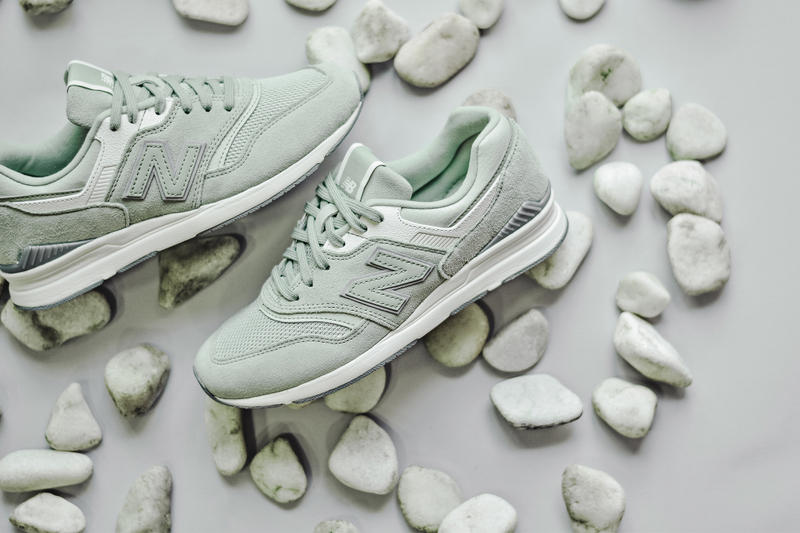 New Balance 697 Pastel Pack Sneakers Silver Mint