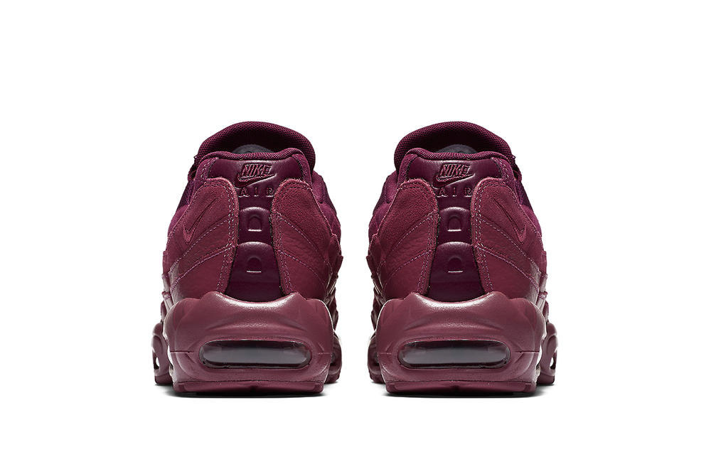 Nike Air Max 95 Vintage Wine Silhouette Burgundy Red Purple Dark Oxblood Shoe Sneaker