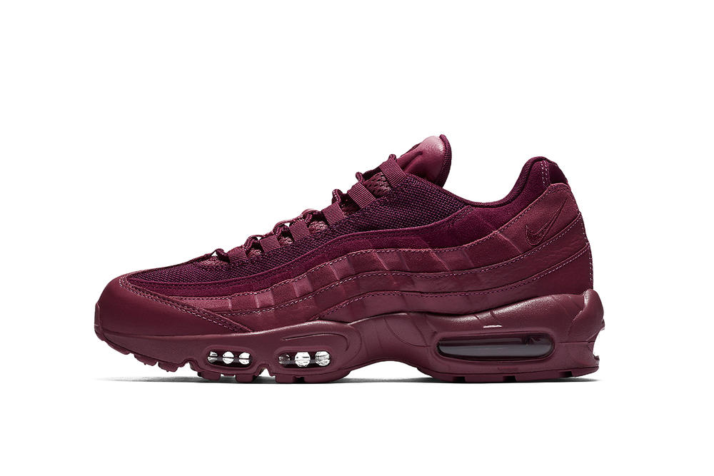 dadd8a25e53 Nike Air Max 95 Vintage Wine Silhouette Burgundy Red Purple Dark Oxblood Shoe  Sneaker