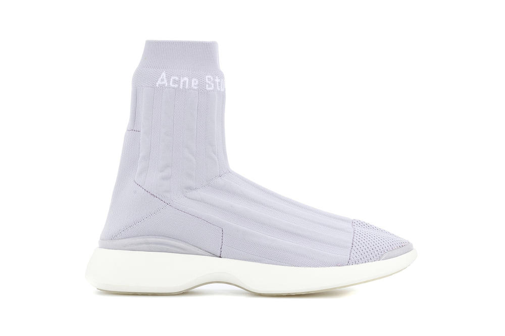Acne Studios batilda sock sneaker lilac ultra violet light pale purple lavender womens where to buy 2018