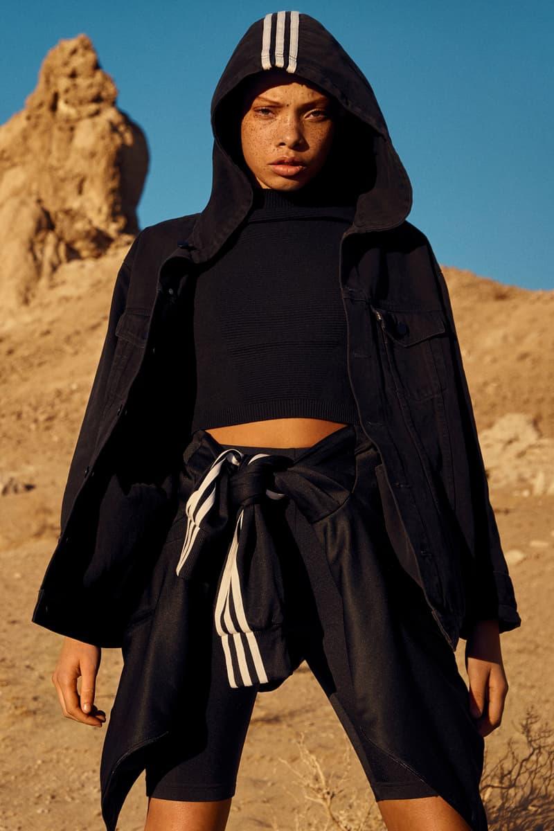 58da43d688a NAKED x adidas Originals Consortium Arkyn Collection Denim Jacket Crop Top  Shorts Black