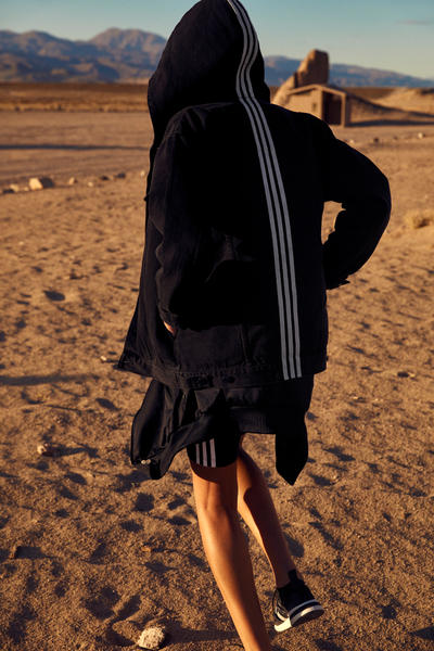 NAKED x adidas Originals Consortium Arkyn Collection Denim Jacket Shorts Black