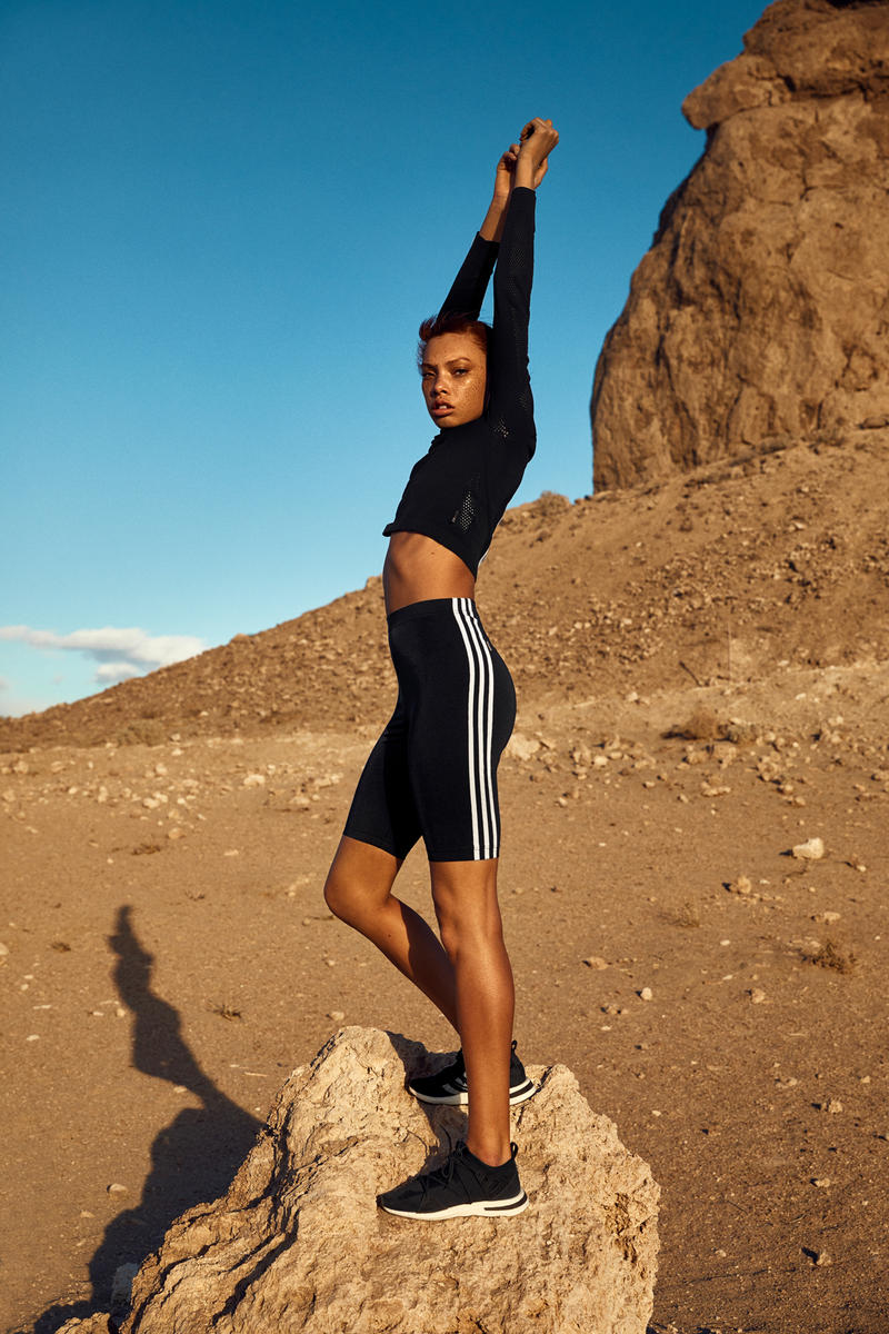 NAKED x adidas Originals Consortium Arkyn Collection Shorts Crop Top Black