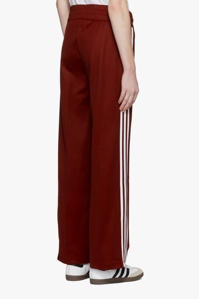 adidas Originals Classic Burgundy Trackpants Three Stripes Retro Sweatpants Sports Athleisure