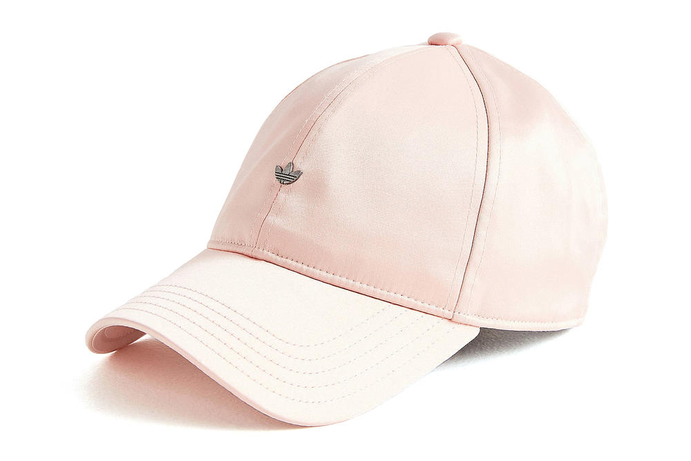 adidas originals pastel pink black satin baseball cap minimal trefoil logo  where to buy womens mens a9b205433e99