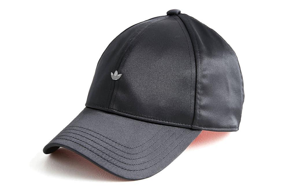 adidas originals pastel pink black satin baseball cap minimal trefoil logo  where to buy womens mens ff58e83d3cc1
