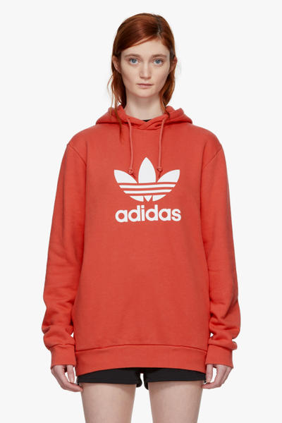adidas Originals New Basic Pieces Available Now SSENSE Trefoil Logo Retro Hoodie Adidas Crop Top