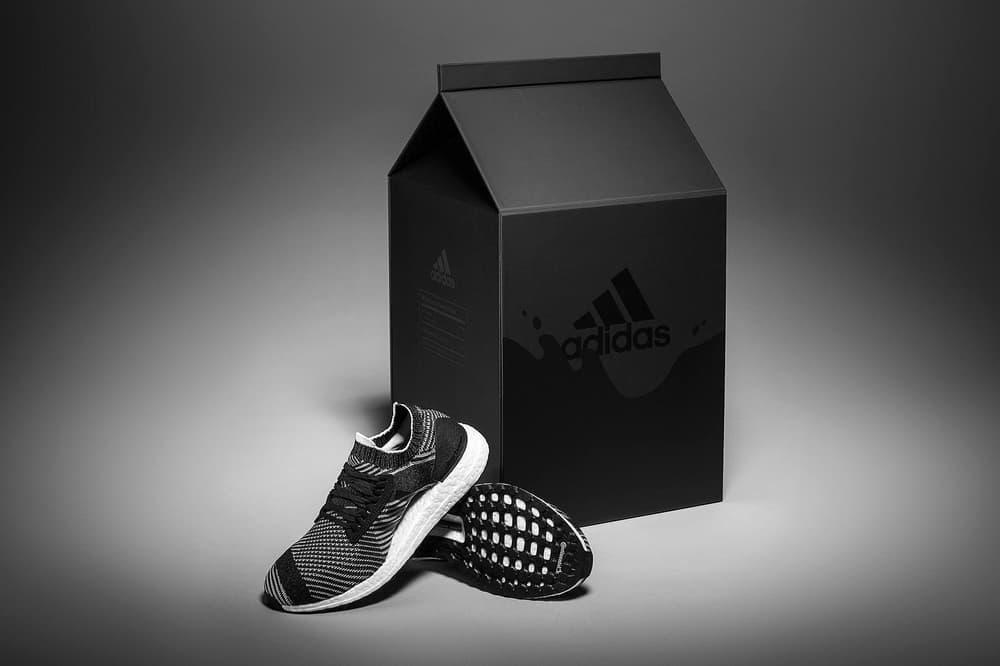 adidas unveils UltraBOOST X in Cookies & Cream womens ladies sneakers oreo milk carton box black white primeknit