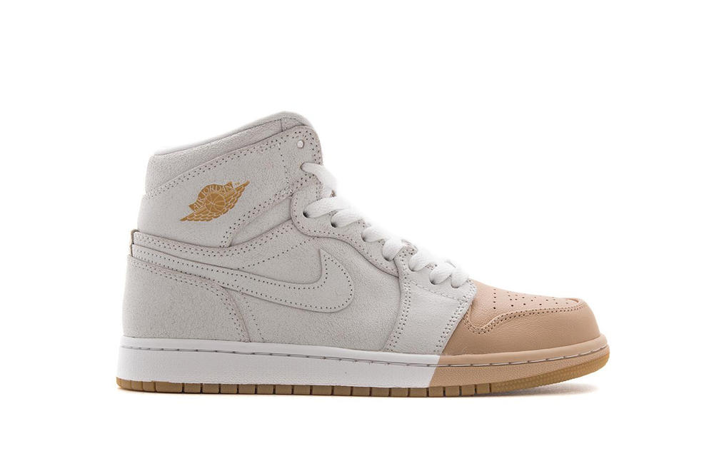 Nike Air Jordan 1 Women's Exclusive Iterations Tan Toe Pack Red White Black Gold Sneaker Silhouette Jordan Brand