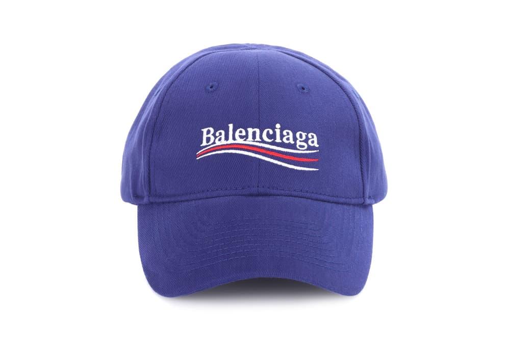 6498c66e654 Balenciaga Drops Blue Campaign Logo Baseball Cap