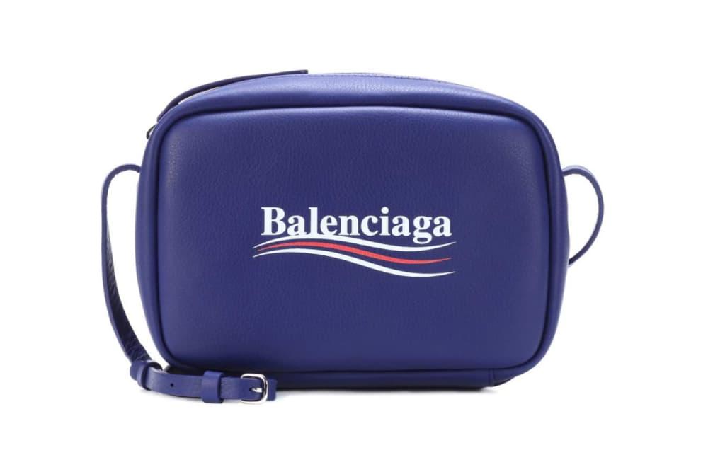 02d622997032e Balenciaga Everyday Leather Crossbody Bag Bleu Blue