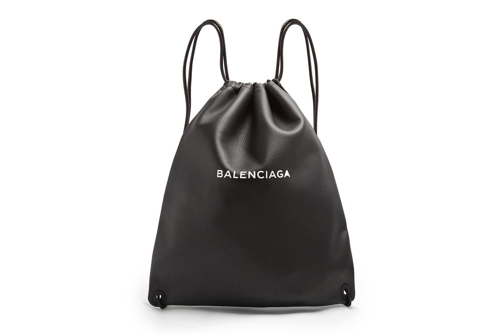cc8066cba33b Balenciaga's Black Leather Drawstring Backpack | HYPEBAE