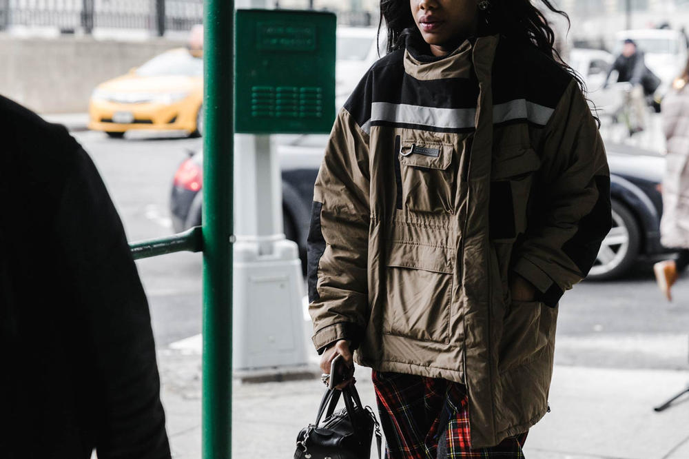 Balenciaga Woman New York Fashion Week 2018 Streetsnaps
