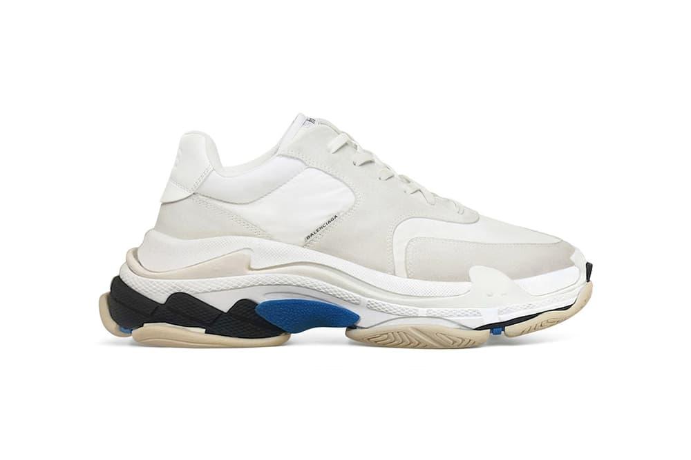 Balenciaga's New Minimalist Triple-S Sneaker Demna Gvasalia Shoe Silhouette Where to Buy