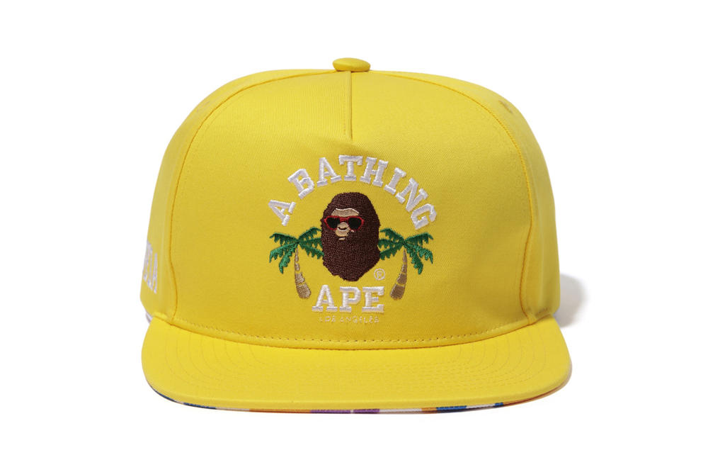 BAPE Los Angeles Capsule Collection T-Shirts Hoodies Sweaters Shorts Yellow