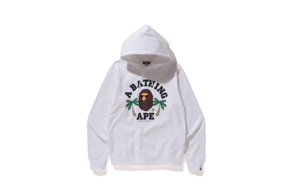 BAPE Los Angeles Capsule Collection T-Shirts Hoodies Sweaters Shorts White